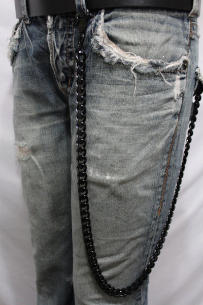 Black  Metal Links Extra Long Wallet Chains ThickKeyChain Jeans Chunky Motorcycle Biker Rock New Men Style - alwaystyle4you - 6