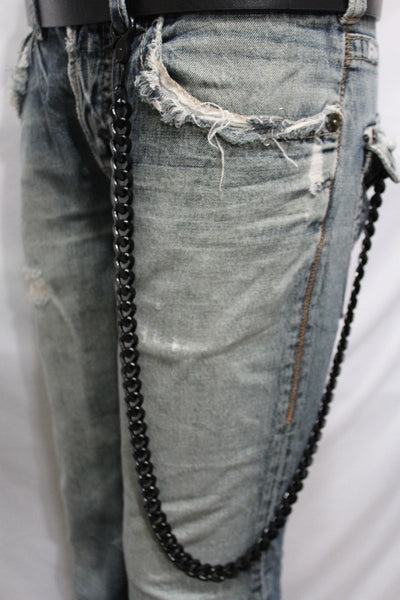 Black  Metal Links Extra Long Wallet Chains ThickKeyChain Jeans Chunky Motorcycle Biker Rock New Men Style - alwaystyle4you - 13
