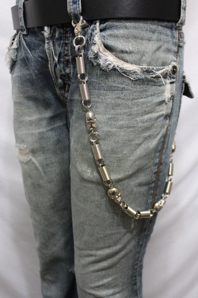 Silver Long Wallet Chains Metal KeyChain Spacers Jeans Springs Skulls Charms Rocker Motorcycle Biker New Men Style - alwaystyle4you - 11