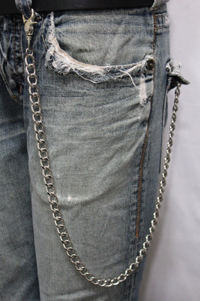 Silver Long Wallet Metal Chain Link KeyChain Classic Chunky Basic Jean Motorcycle Biker Rocker New Men Style - alwaystyle4you - 3