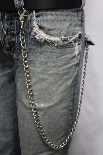 Silver Long Wallet Metal Chain Link KeyChain Classic Chunky Basic Jean Motorcycle Biker Rocker New Men Style - alwaystyle4you - 7