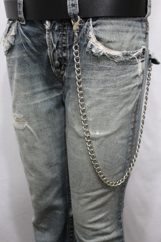 Silver Long Wallet Metal Chain Link KeyChain Classic Chunky Basic Jean Motorcycle Biker Rocker New Men Style - alwaystyle4you - 1