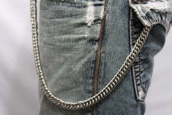 Silver Metal Short Wallet Chains KeyChain Jeans Fashion Jewelry Biker Strong New Men Style - alwaystyle4you - 3