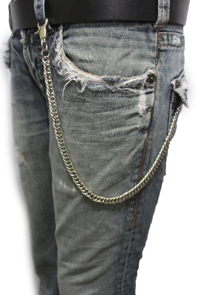 Silver Metal Short Wallet Chains KeyChain Jeans Fashion Jewelry Biker Strong New Men Style - alwaystyle4you - 9