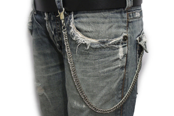 Silver Metal Short Wallet Chains KeyChain Jeans Fashion Jewelry Biker Strong New Men Style - alwaystyle4you - 12