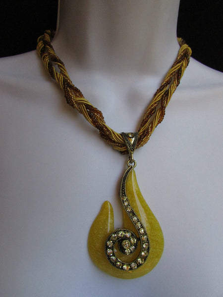 Purple White Yellow Chain Glass Snale Pendant Rhinestones Strands Necklace New Women Accessories