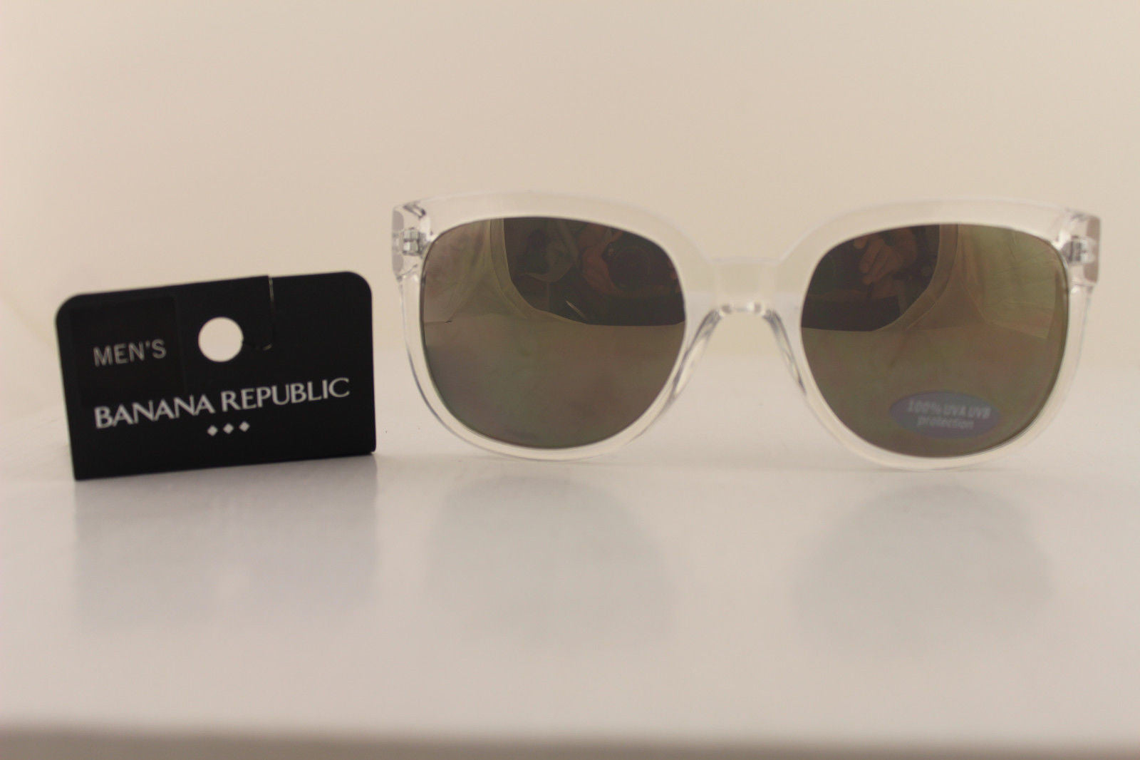 Clear With Black New Plastic Frame Sunglasses Banana Republic Men ...