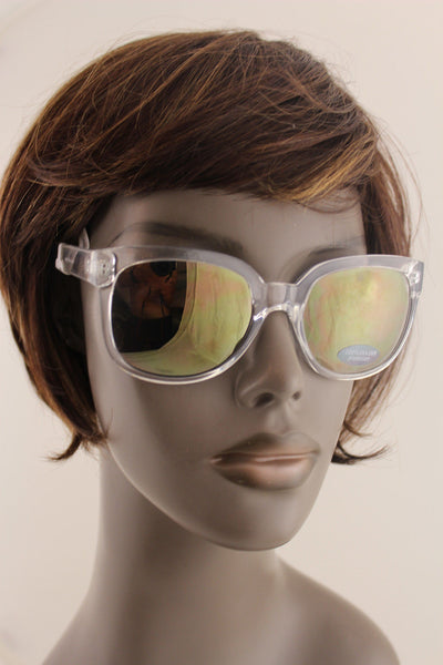Clear With Black New Plastic Frame Sunglasses Banana Republic Men Women Fashion Accessories