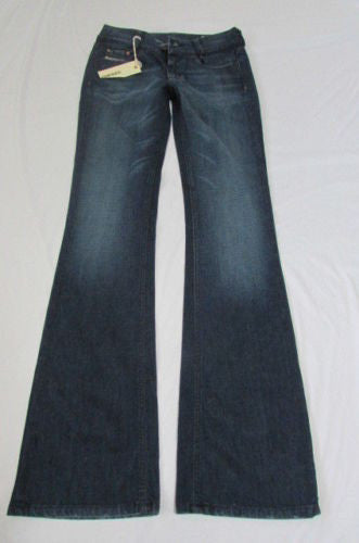Dark Blue Diesel Pants Jeans Classic Denim Boot Cut Legs New Women Louvely Fashion Size W25 L32