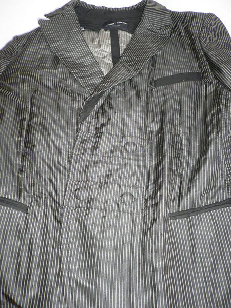 Black White Pin Long Jacket Multi Stripes Giorgio Armani Men New Fashion Size Medium $2895