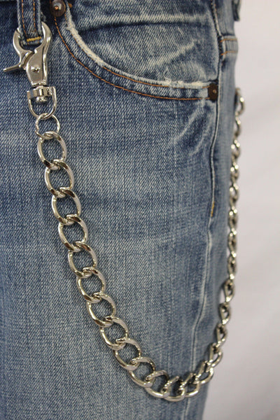 Silver Metal Thick Wallet Chain Classic Chunky KeyChain Biker Jeans Truck Punk Rocker Trucker Accessory New Men Hot Style - alwaystyle4you - 3