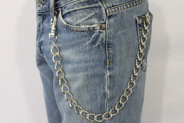 Silver Metal Thick Wallet Chain Classic Chunky KeyChain Biker Jeans Truck Punk Rocker Trucker Accessory New Men Hot Style - alwaystyle4you - 8