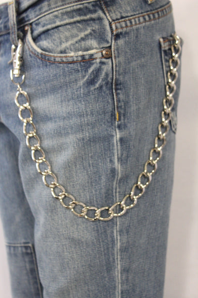 Silver Metal Thick Wallet Chain Classic Chunky KeyChain Biker Jeans Truck Punk Rocker Trucker Accessory New Men Hot Style - alwaystyle4you - 10
