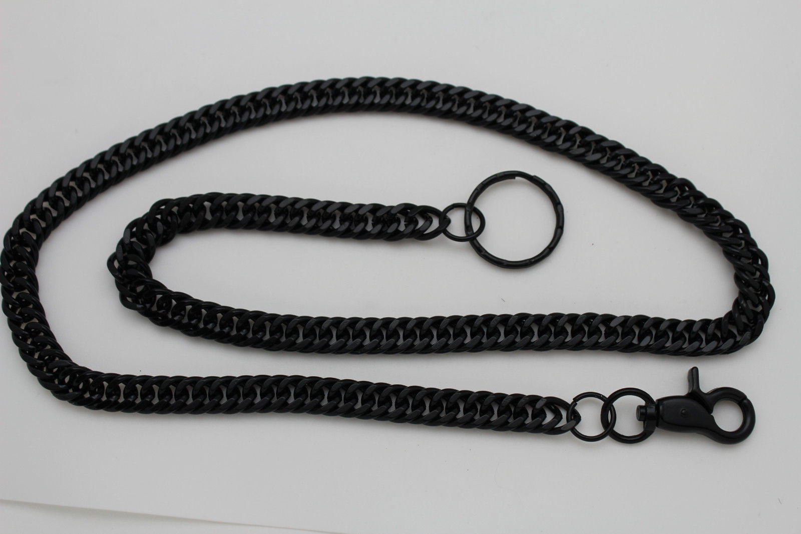 Black Metal Links Extra Long Wallet Chains Keychain Jeans Biker Motorc Alwaystyle4you