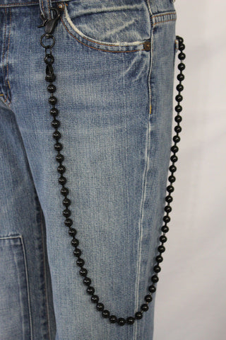 Black Metal Extra Long Balls Wallet Chain Strong Biker Motorcycle Jeans Trucker Hot New Men Style - alwaystyle4you - 1
