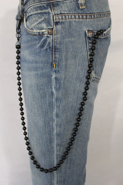 Black Metal Extra Long Balls Wallet Chain Strong Biker Motorcycle Jeans Trucker Hot New Men Style - alwaystyle4you - 3