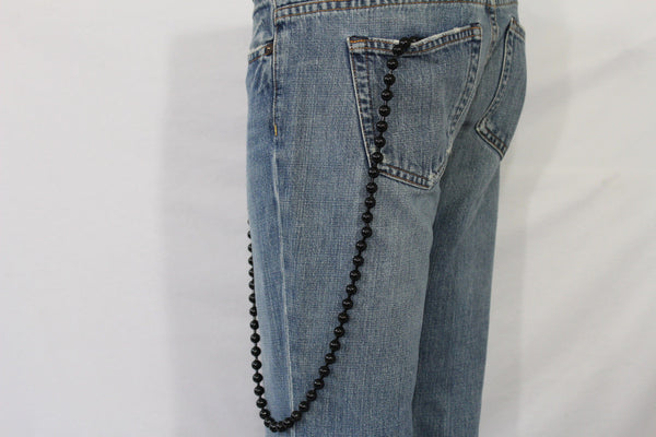 Black Metal Extra Long Balls Wallet Chain Strong Biker Motorcycle Jeans Trucker Hot New Men Style - alwaystyle4you - 10