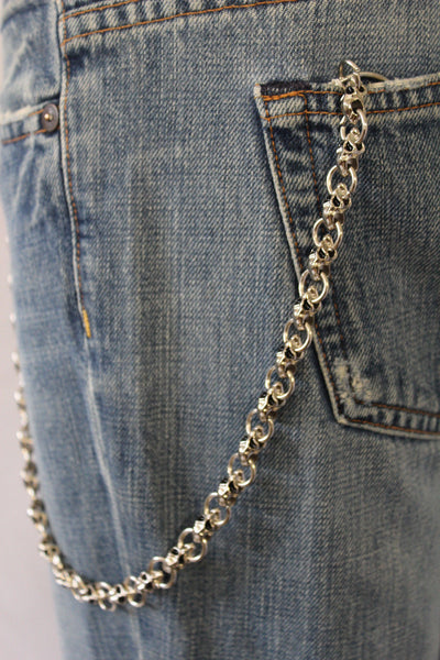 Silver Metal Wallet Chain Mini UFO Skulls KeyChain Motorcycle Accessory Biker Jeans Trucker New Men Hot Style - alwaystyle4you - 2