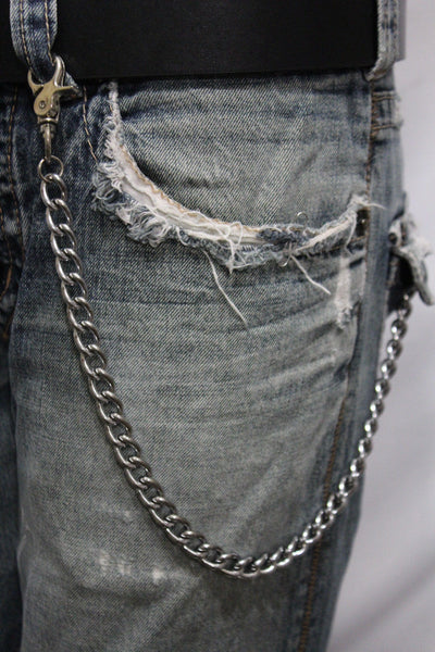 Silver Metal Wallet Chains Thick Link KeyChain Jeans Classic Biker Motorcycle Cowboy Basic Accessory New Men - alwaystyle4you - 11