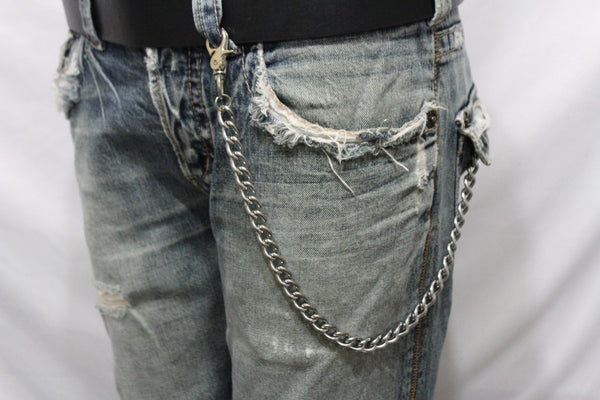 Silver Metal Wallet Chains Thick Link KeyChain Jeans Classic Biker Motorcycle Cowboy Basic Accessory New Men - alwaystyle4you - 12