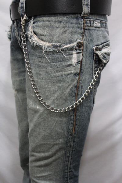 Silver Metal Wallet Chains Thick Link KeyChain Jeans Classic Biker Motorcycle Cowboy Basic Accessory New Men - alwaystyle4you - 2