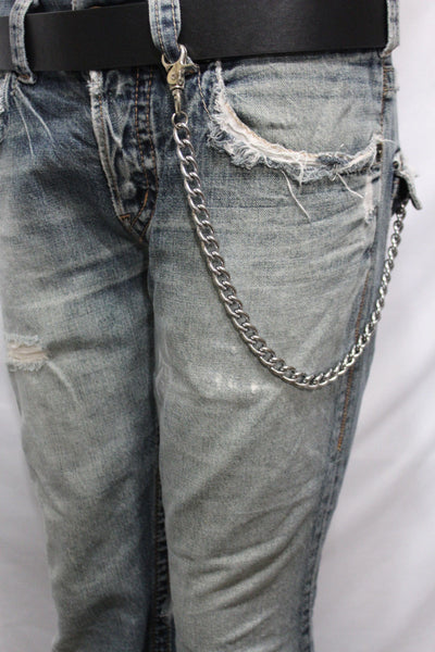 Silver Metal Wallet Chains Thick Link KeyChain Jeans Classic Biker Motorcycle Cowboy Basic Accessory New Men - alwaystyle4you - 5