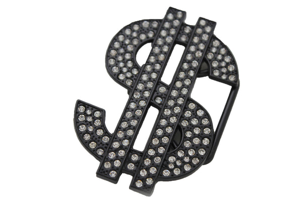 Black Metal Big Money American Dollar $ Silver New Men Women Belt Buckle Fashion - alwaystyle4you - 6