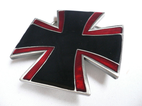 Big Belt Buckle Wide Metal Black Red Cross New Men Women Western Fashion - alwaystyle4you - 6