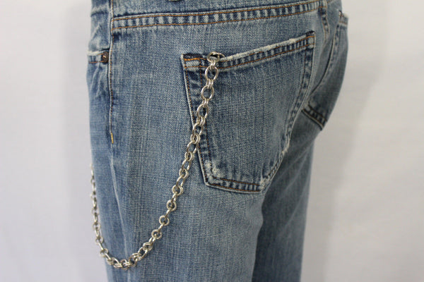 Silver Metal Wallet Chain Classic KeyChain Punk Cowboy Biker Jean Trucker Hot New Men Style - alwaystyle4you - 12