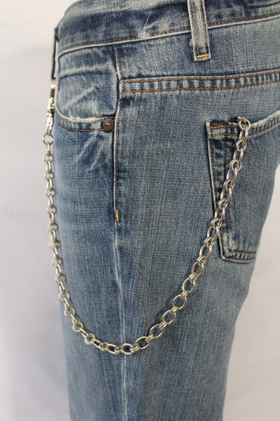 Silver Metal Wallet Chain Classic KeyChain Punk Cowboy Biker Jean Trucker Hot New Men Style - alwaystyle4you - 6