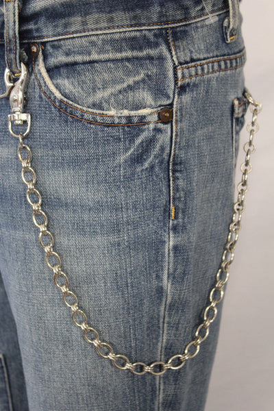 Silver Metal Wallet Chain Classic KeyChain Punk Cowboy Biker Jean Trucker Hot New Men Style - alwaystyle4you - 1