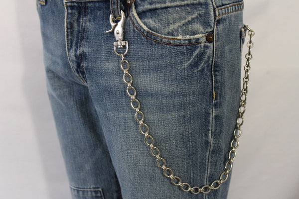 Silver Metal Wallet Chain Classic KeyChain Punk Cowboy Biker Jean Trucker Hot New Men Style - alwaystyle4you - 10