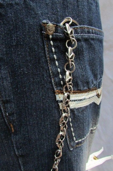 Silver Metal Jeans Long Chains Wallet Ring Multi Mini UFO Keychain Rocker New Men Style - alwaystyle4you - 3