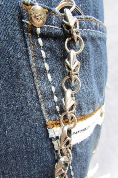 Silver Metal Jeans Long Chains Wallet Ring Multi Mini UFO Keychain Rocker New Men Style - alwaystyle4you - 6