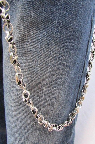 Silver Metal Jeans Long Chains Wallet Ring Multi Mini UFO Keychain Rocker New Men Style - alwaystyle4you - 9