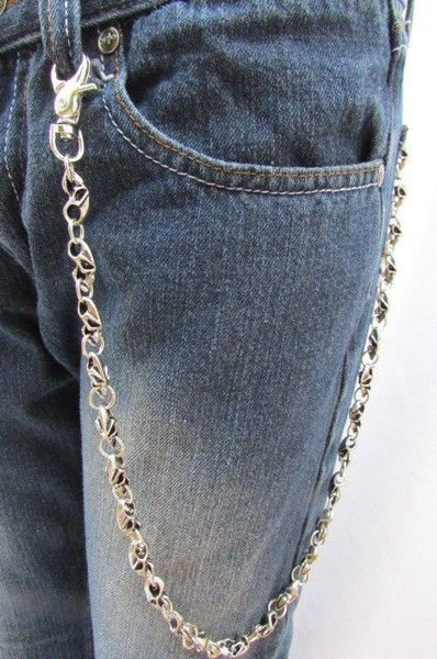 Silver Metal Jeans Long Chains Wallet Ring Multi Mini UFO Keychain Rocker New Men Style - alwaystyle4you - 10
