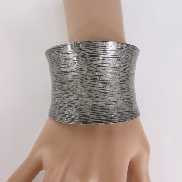 Silver / Gold Metal Cuff Bracelet Spanish Brush Classic New Women Style Fashion Jewelry Accessories - alwaystyle4you - 8