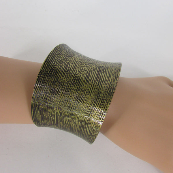 Silver / Gold Metal Cuff Bracelet Spanish Brush Classic New Women Style Fashion Jewelry Accessories - alwaystyle4you - 2