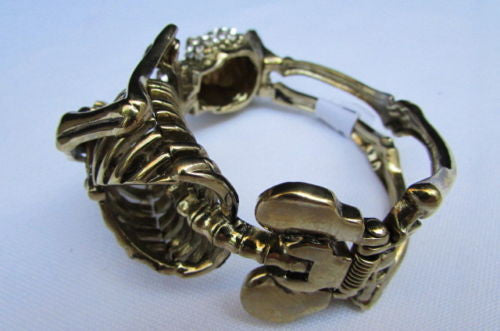Gold Skeleton Cuff Bracelet Body Bones Halloween Style Fashion Jewelry New Women Accessories - alwaystyle4you - 5