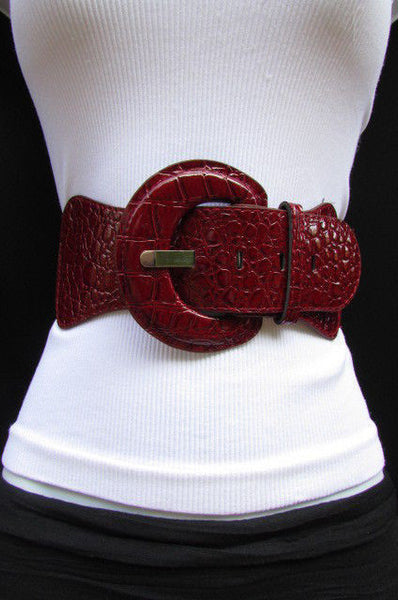 Casual High Waist / Hip Elastic Stretch Faux Leather Belt Crocodile Stamp 15 Different Colors To Choose From  New Women Fashion Accessories - alwaystyle4you - 110