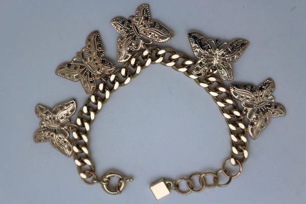 Gold Metal Chain Bracelet Multi Butterfly Charm Wrist Trendy New Women Fashion Jewelry Accessories - alwaystyle4you - 8