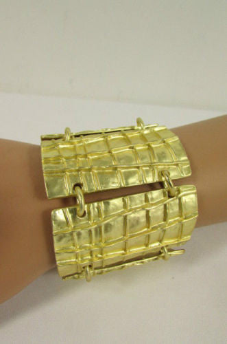 Gold Metal Plate Chains Bracelet African Trible Style Fashion New Women Jewelry Accessories - alwaystyle4you - 3