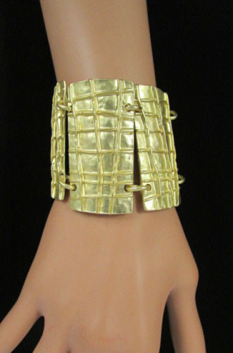 Gold Metal Plate Chains Bracelet African Trible Style Fashion New Women Jewelry Accessories - alwaystyle4you - 4