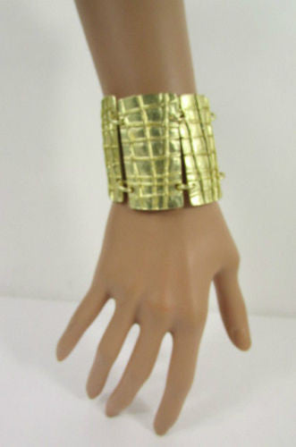 Gold Metal Plate Chains Bracelet African Trible Style Fashion New Women Jewelry Accessories - alwaystyle4you - 8