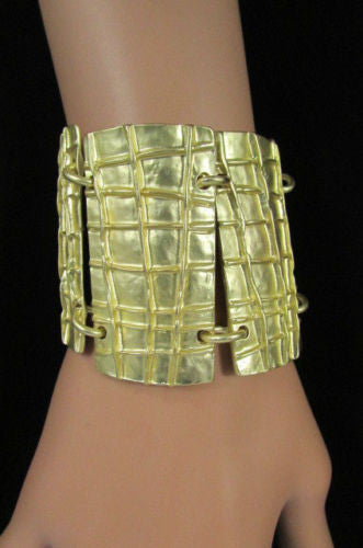 Gold Metal Plate Chains Bracelet African Trible Style Fashion New Women Jewelry Accessories - alwaystyle4you - 2
