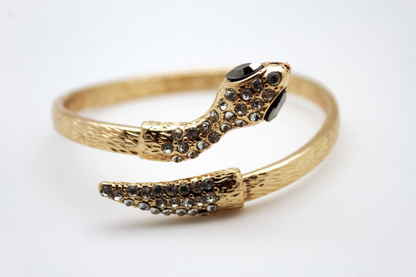 Gold / Silver Metal Narrow Cuff Bracelet Wrap Around Snake Bangle New Women Fashion Jewelry Accessories - alwaystyle4you - 21