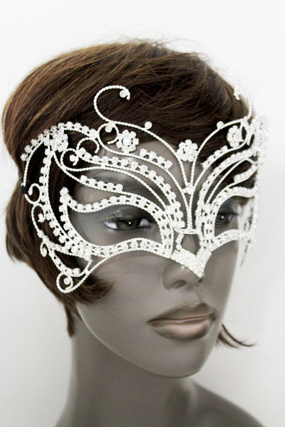 Silver Metal Large Butterfly Big Wings Tie Ribbon Halloween Costume Carnival Accessories