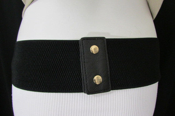 Gold Black / Gold / Silver Full Metal Gold Plate Wide Waist Chic Belt Fashion New Women Accessories Regular & Plul Size - alwaystyle4you - 30