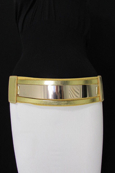 Gold Black / Gold / Silver Full Metal Gold Plate Wide Waist Chic Belt Fashion New Women Accessories Regular & Plul Size - alwaystyle4you - 6