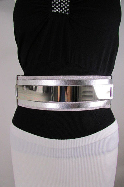 Gold Black / Gold / Silver Full Metal Gold Plate Wide Waist Chic Belt Fashion New Women Accessories Regular & Plul Size - alwaystyle4you - 34